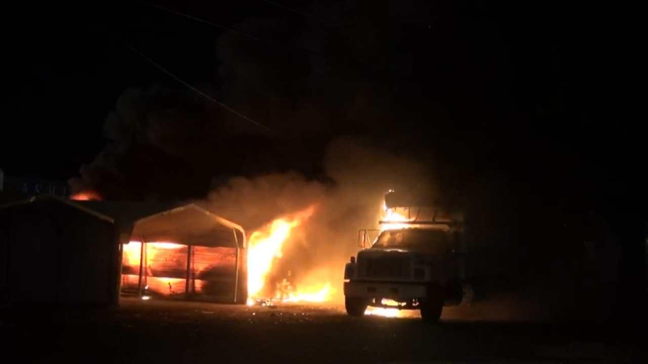 Fire Damages Several Booths, Truck At Tulsa Flea Market