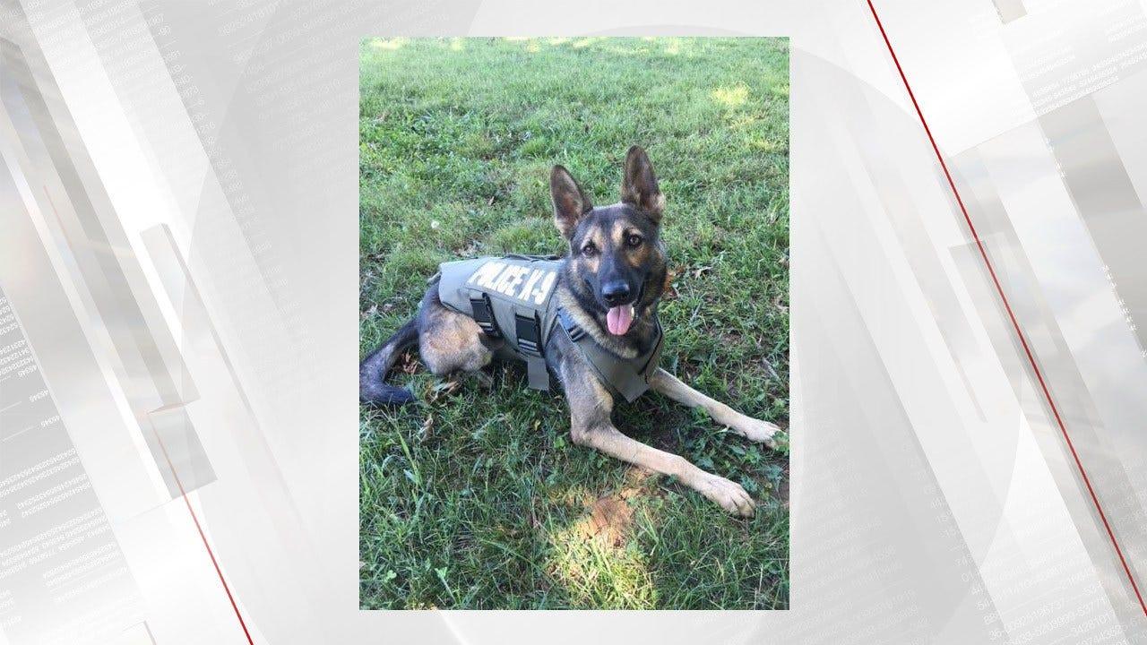 Sand Springs Police K-9 Receives Protective Vest