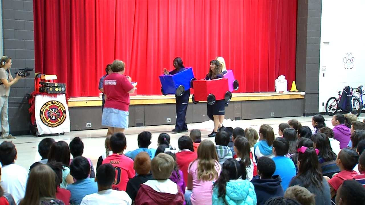 Tulsa Students Learn How To Stay Safe To And From School