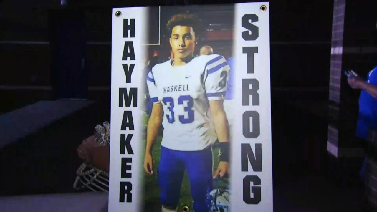 Haskell Football Team Plays With Injured Teammate On Their Minds