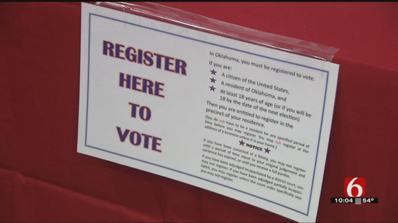Tulsa Volunteers Drum Up Voter Registrations Prior To Deadline