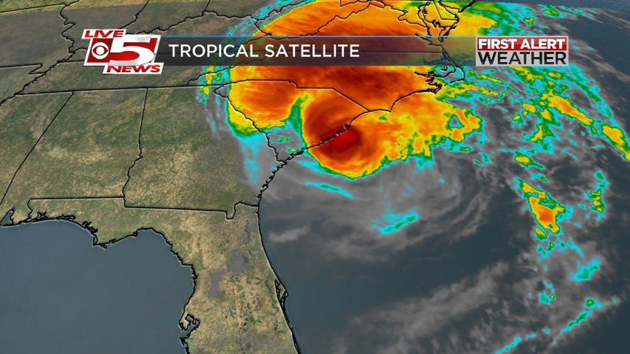 Hurricane Matthew Lashing South Carolina Coastal Areas