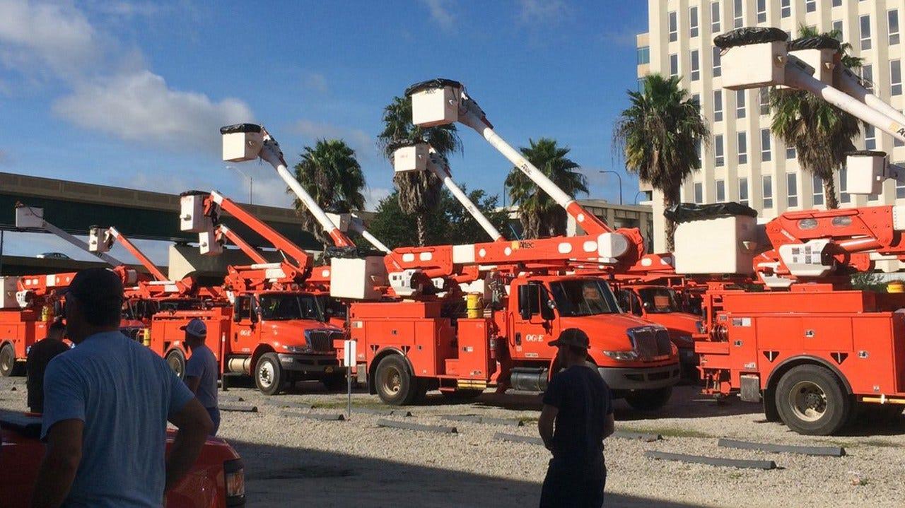 OG&E Crews In Florida To Help With Power Restoration Efforts