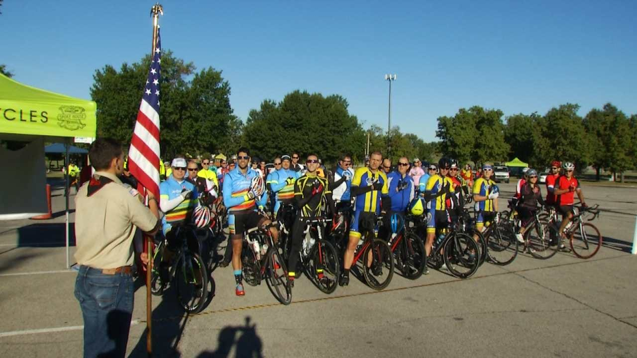 Oklahoma Eagle Scout Organizes Fundraiser For Veteran Cycling Program
