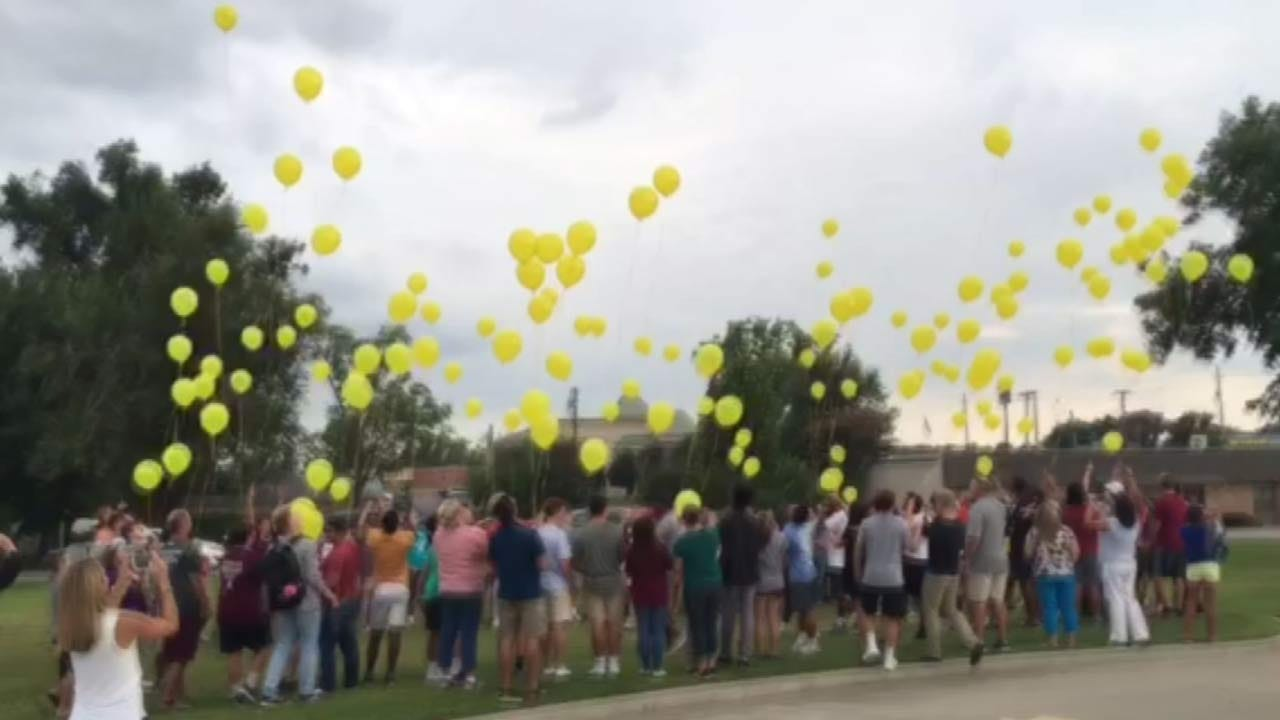 Balloons Fill Tulsa Sky For Childhood Cancer Awareness Month