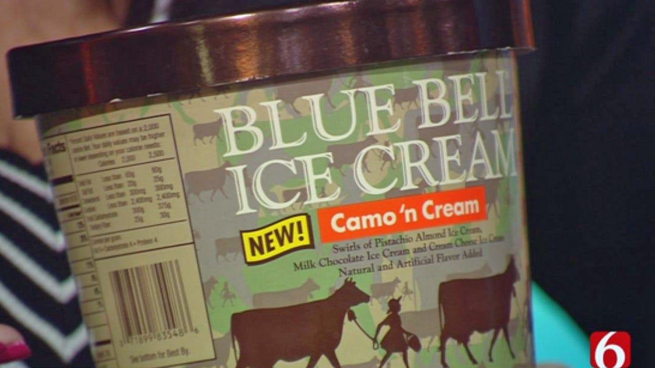 Blue Bell Unveils 'Camo 'n Cream' As New Ice Cream Flavor