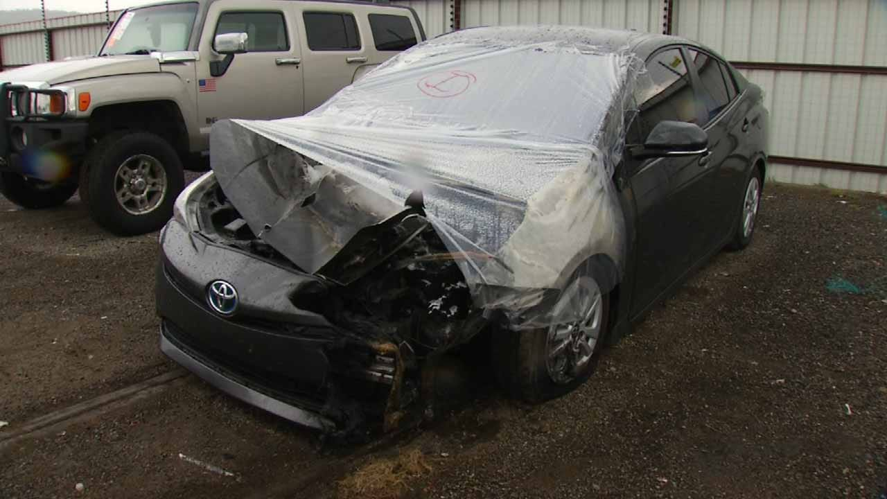 Driver Thankful To Be Alive After Car Struck By Lightning Near Catoosa