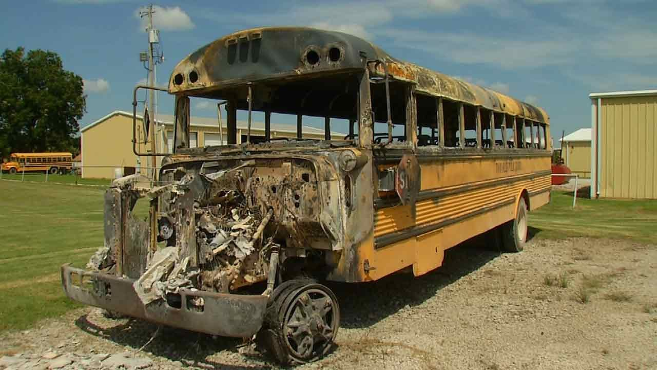 Four Arrested In Connection With Twin Hills School Bus Thefts, Arson
