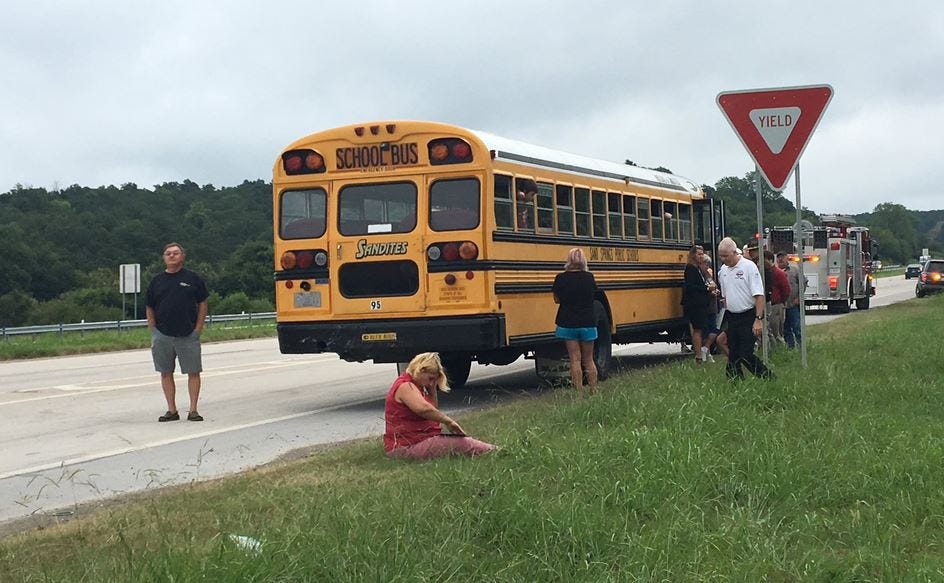 OHP: No Students Injured In Sand Springs School Bus Crash