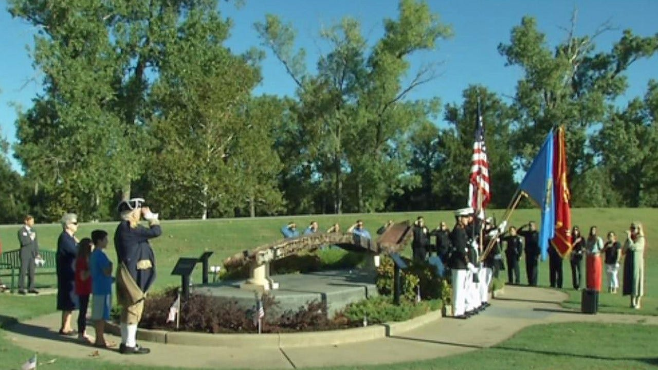Bixby Residents Remember 9/11 At Local World Trade Center Artifact
