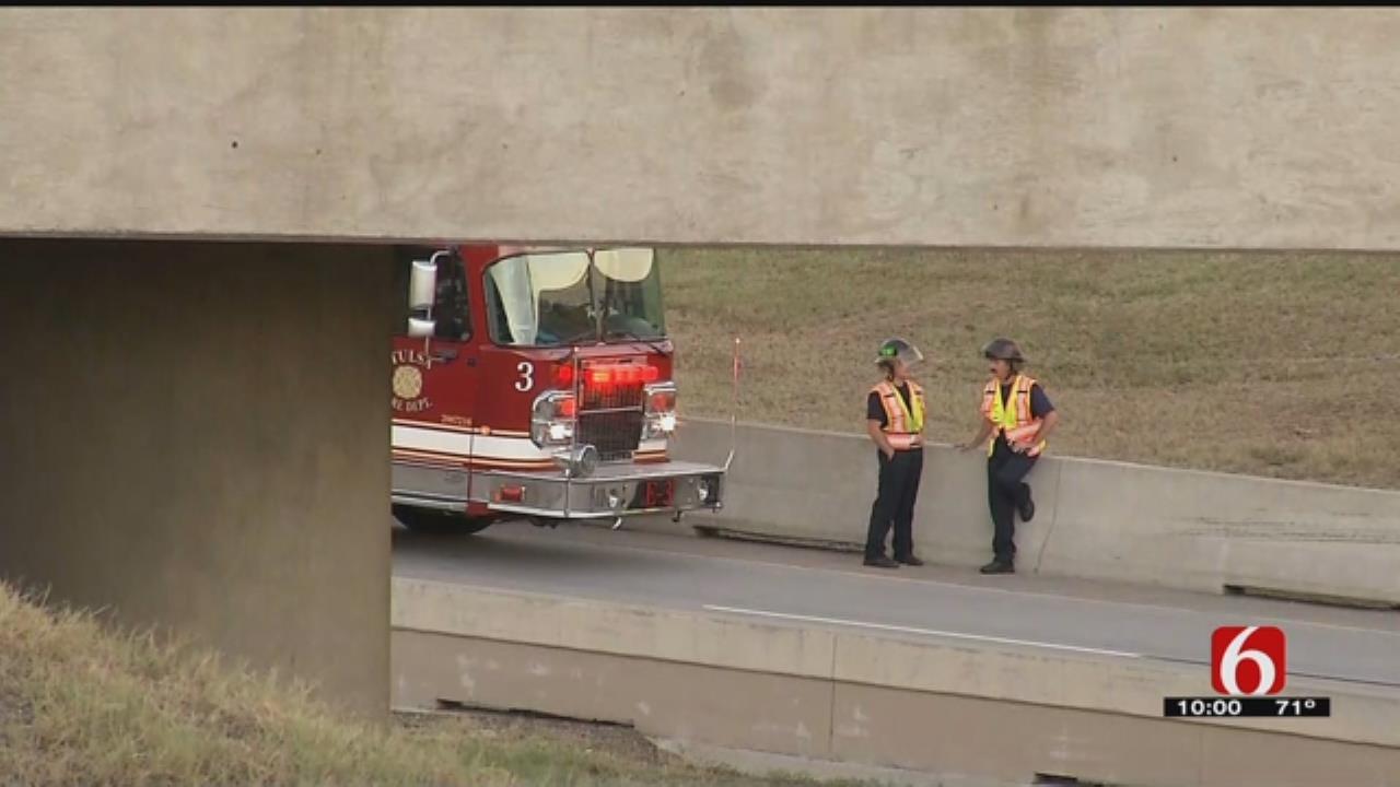 Motorcyclist Thrown From Bridge In Tulsa Wreck