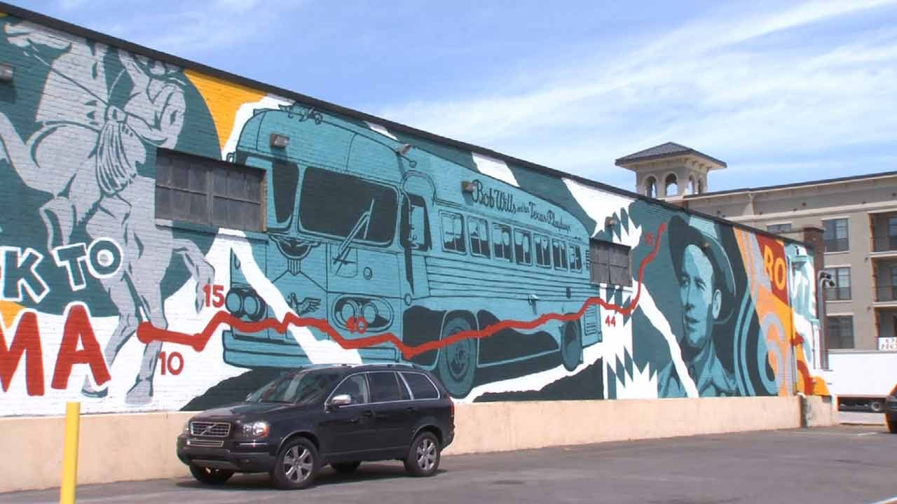 New Downtown Mural Features Bob Wills, Route 66