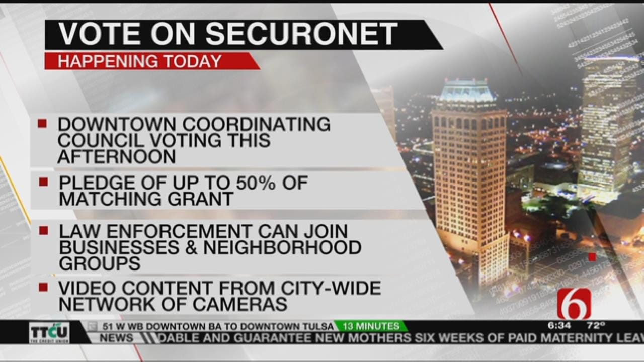Tulsa's Downtown Coordinating Council To Vote On Security Camera Network