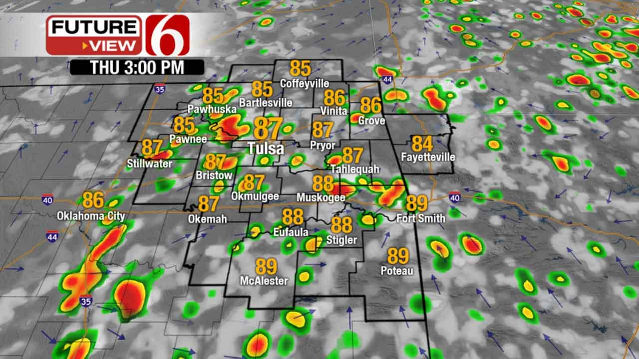 Waves Of Rain, Storms Expected In Green Country