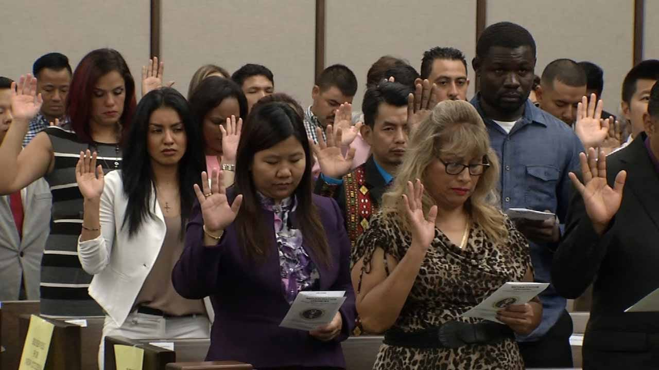 Newly Naturalized Citizens Proud To Call America Home