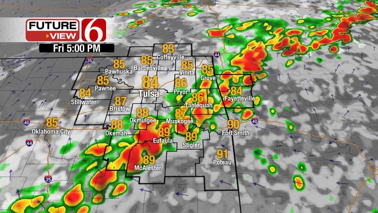 Two Rounds Of Storms Possible In Eastern Oklahoma Friday