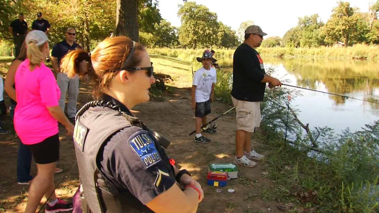Tulsa Police Host Fishing Event To Bridge Gap Between Youth And Officers