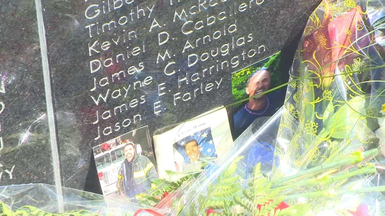 Fallen Claremore Firefighter's Name Placed On Wall Of Honor