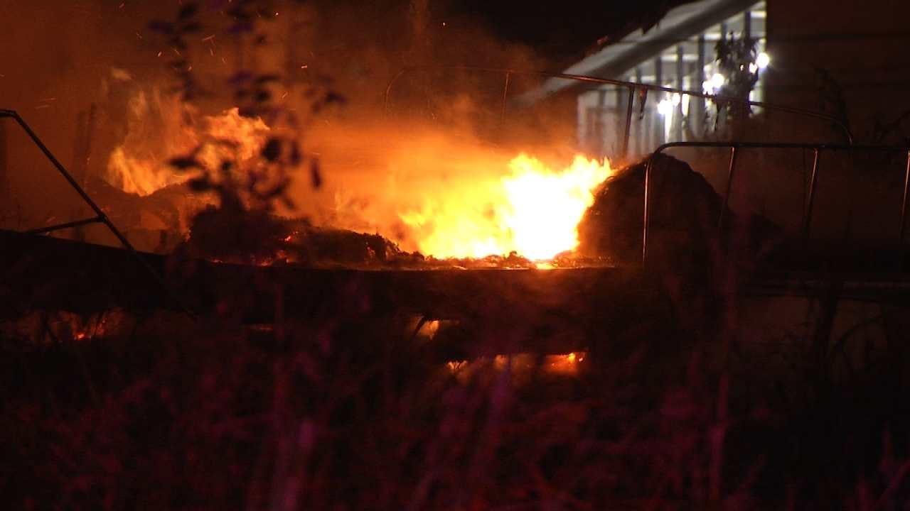 Fire Destroys Boat Stored Outside Sapulpa Building