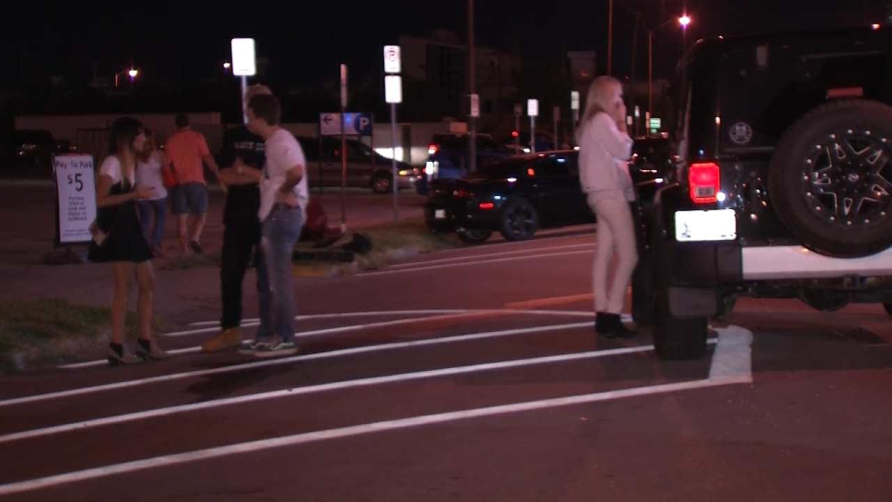 Tulsa Hit-And-Run Car Tracked By Gouges In Roadway