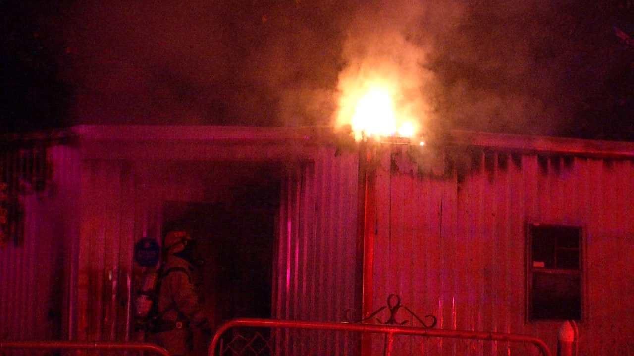 Tulsa Fire Crews Say Building Fire Is Suspicious