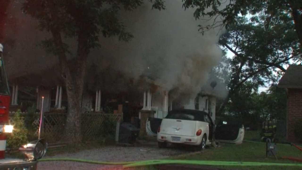 Fire Damages Sapulpa Home
