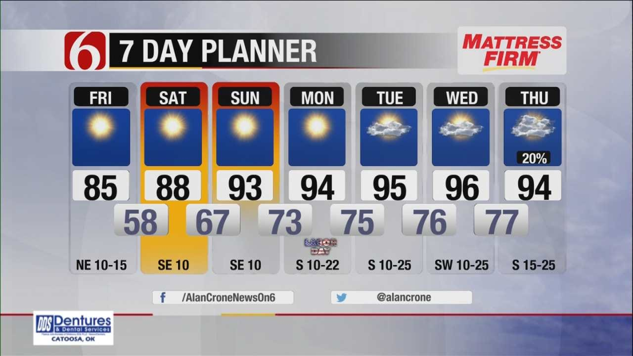 Five Star Weather Day Across Eastern Oklahoma