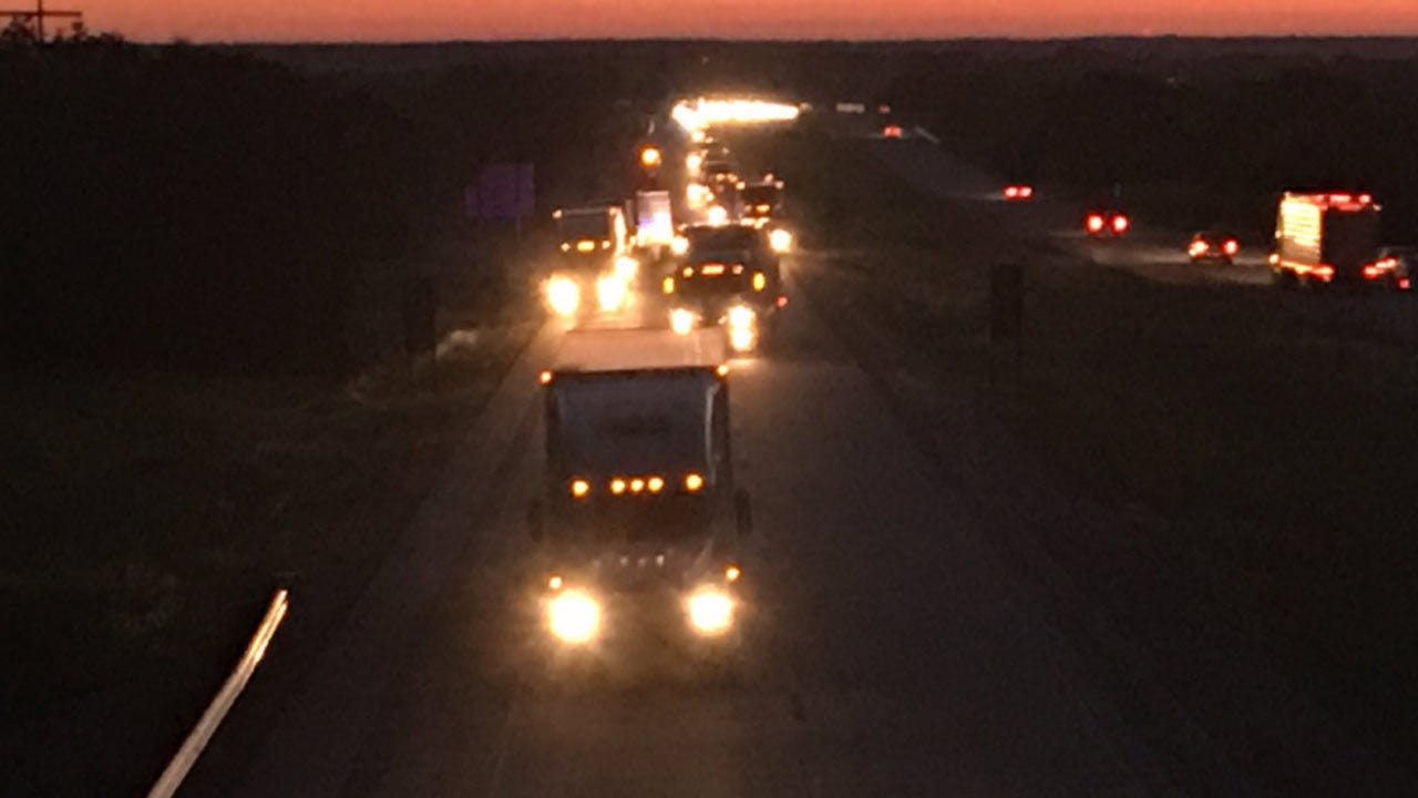Injury Two Vehicle Crash Impacts Traffic On I-40 Near Henryetta