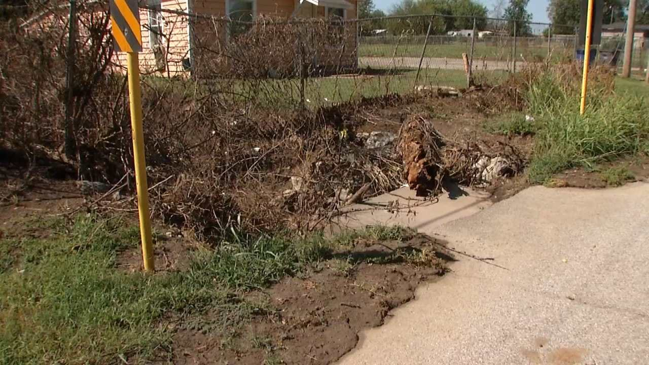 Tulsa Neighborhood Cleans Up After Big Water Main Break