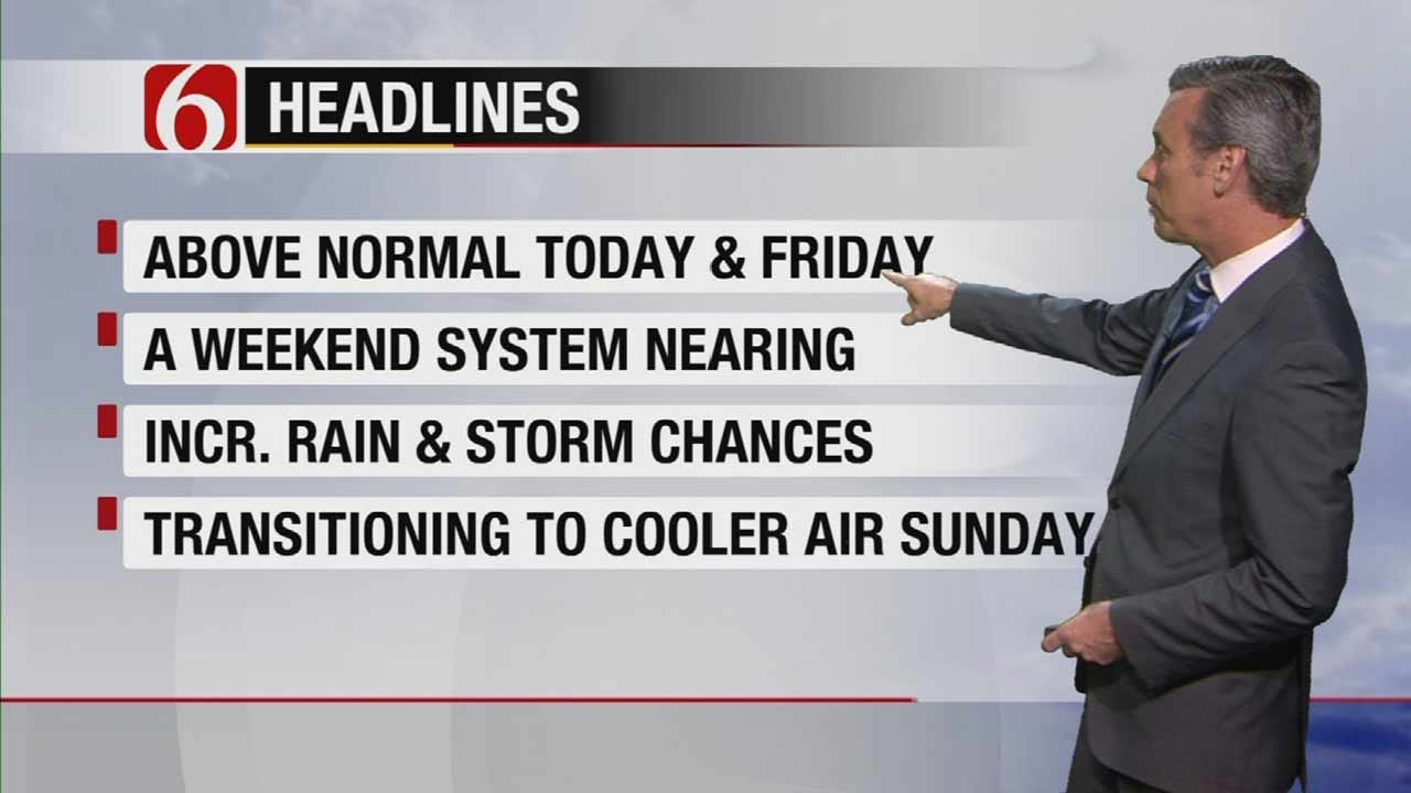 Tracking Weekend Storm System For Eastern Oklahoma