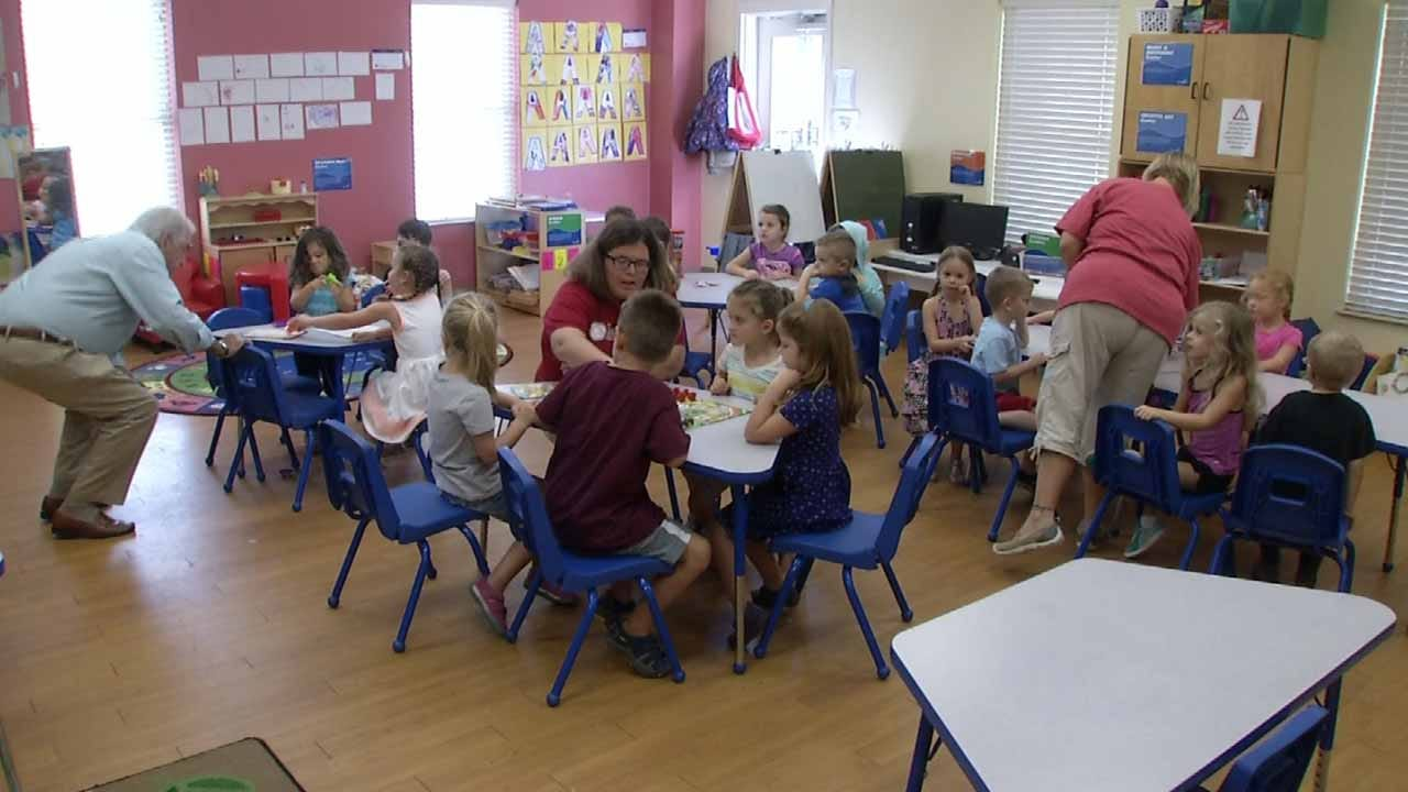 Jenks Pre-Schoolers Test Out New Toys