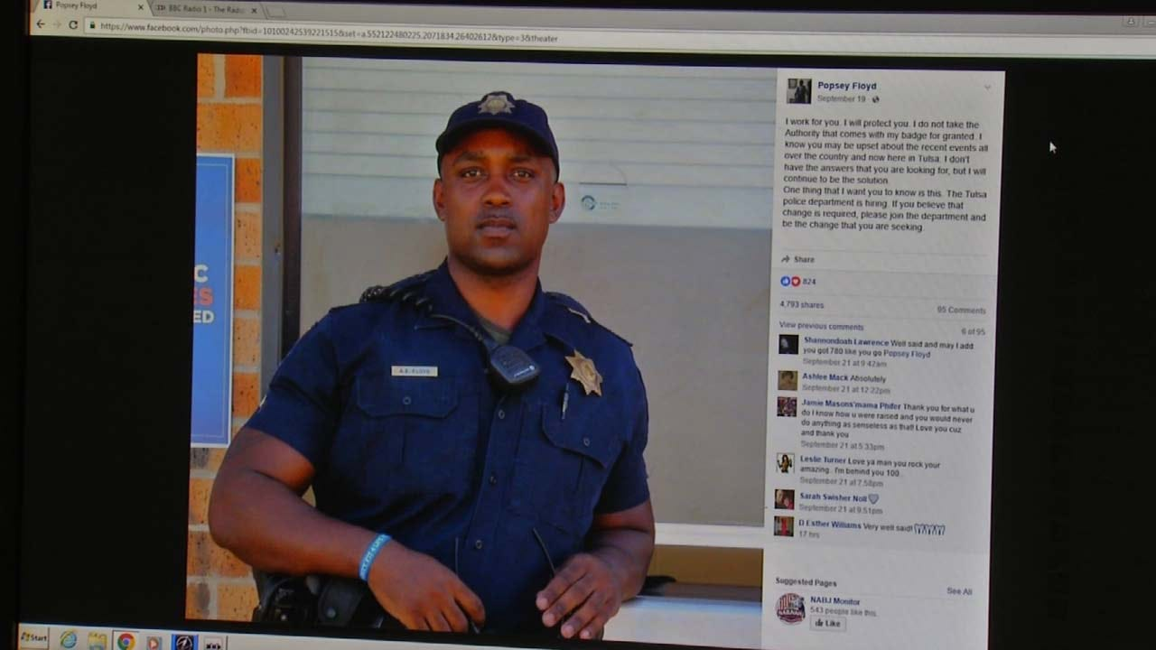 Tulsa Police Officer's Post Encourages Others To Help Make A Change