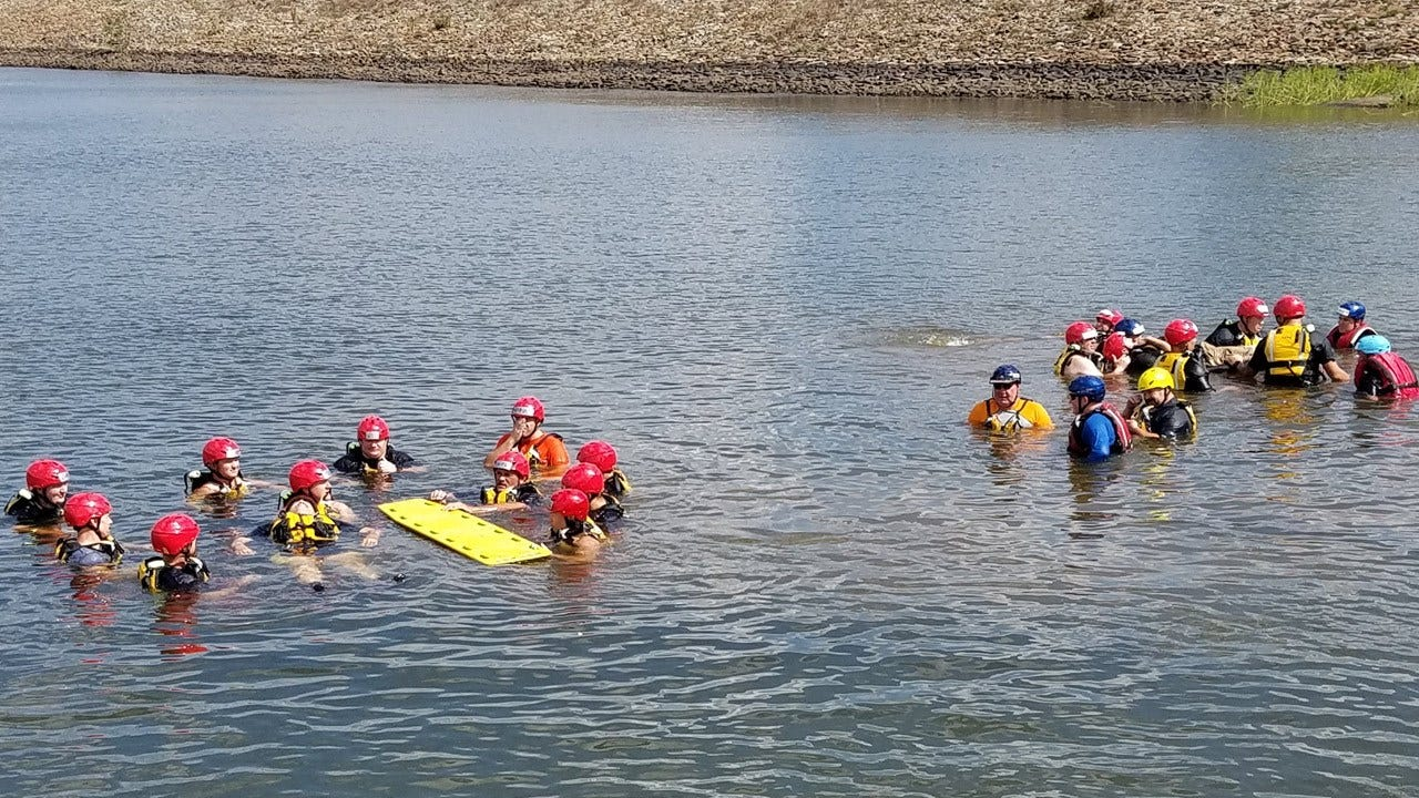 Okmulgee County Firefighters Train In Swift Water Rescue