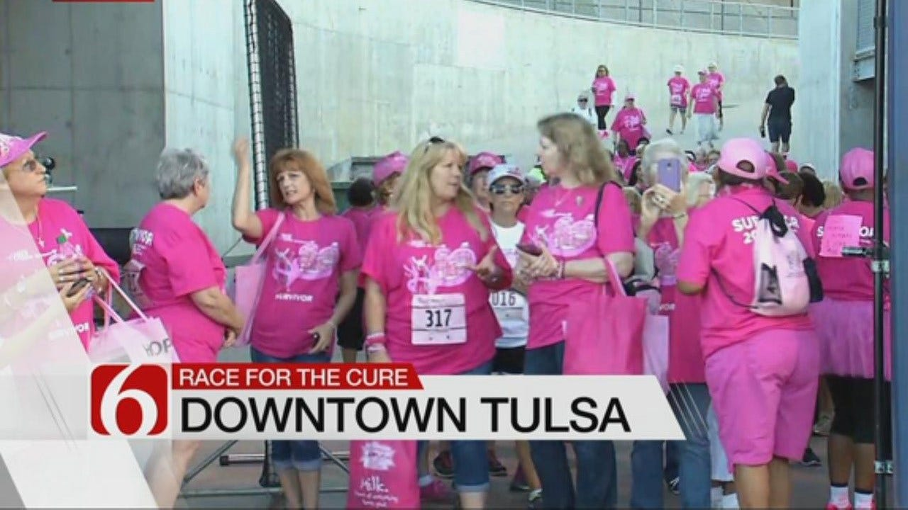 Survivors Celebrate Being Breast Cancer-Free At Race For The Cure