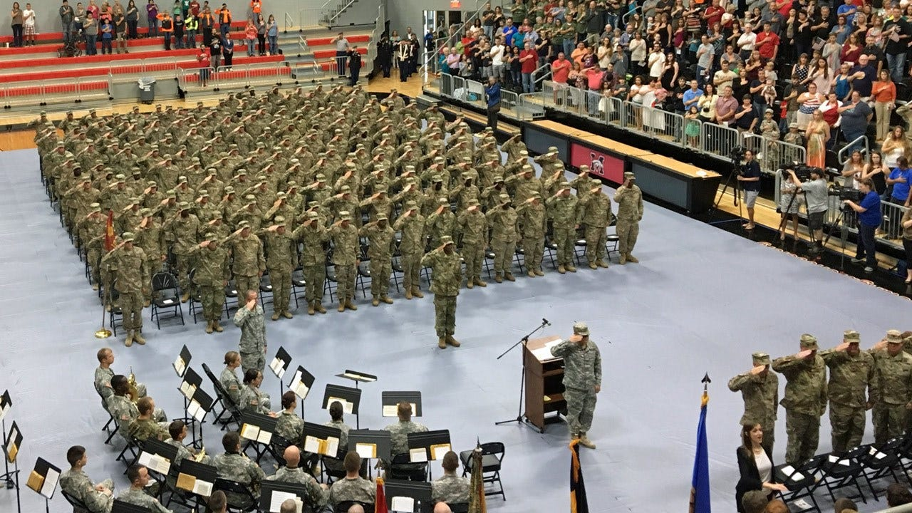Mustang National Guard Unit Departs For Yearlong Deployment