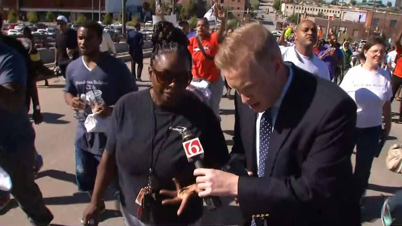 Protesters Marching In Downtown Tulsa Want Voices Heard