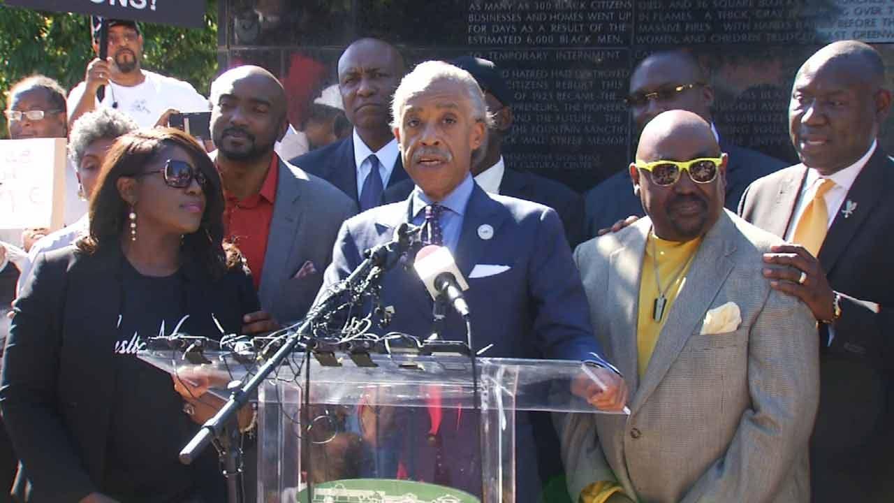 Sharpton, Crutcher Family Preach Peace Before Tulsa March