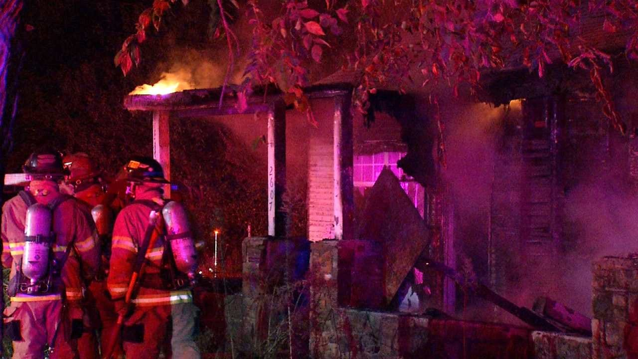 Fire Destroys Vacant Tulsa Home