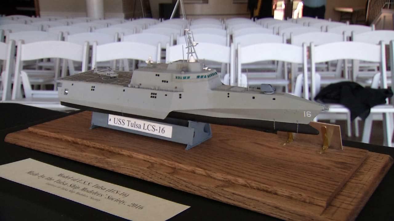 Model Of USS Tulsa On Display At Tulsa Historical Society