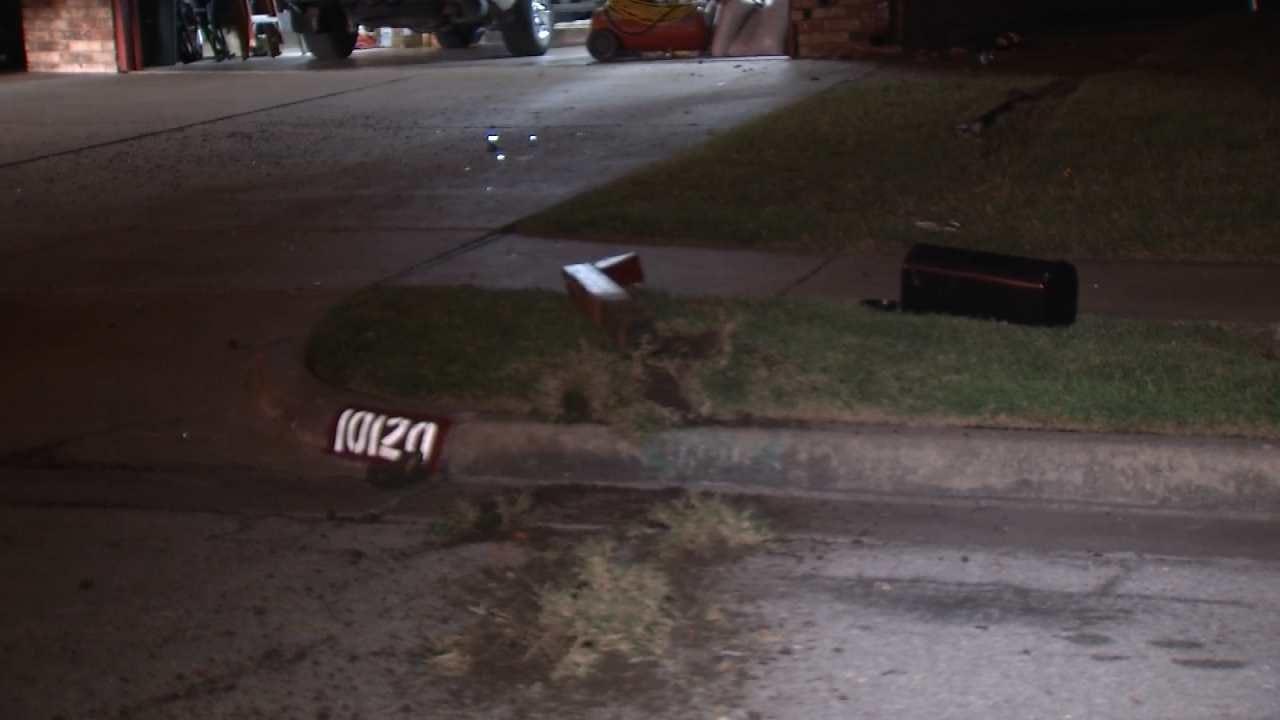 Man Runs Away After Car Hits Tulsa Home