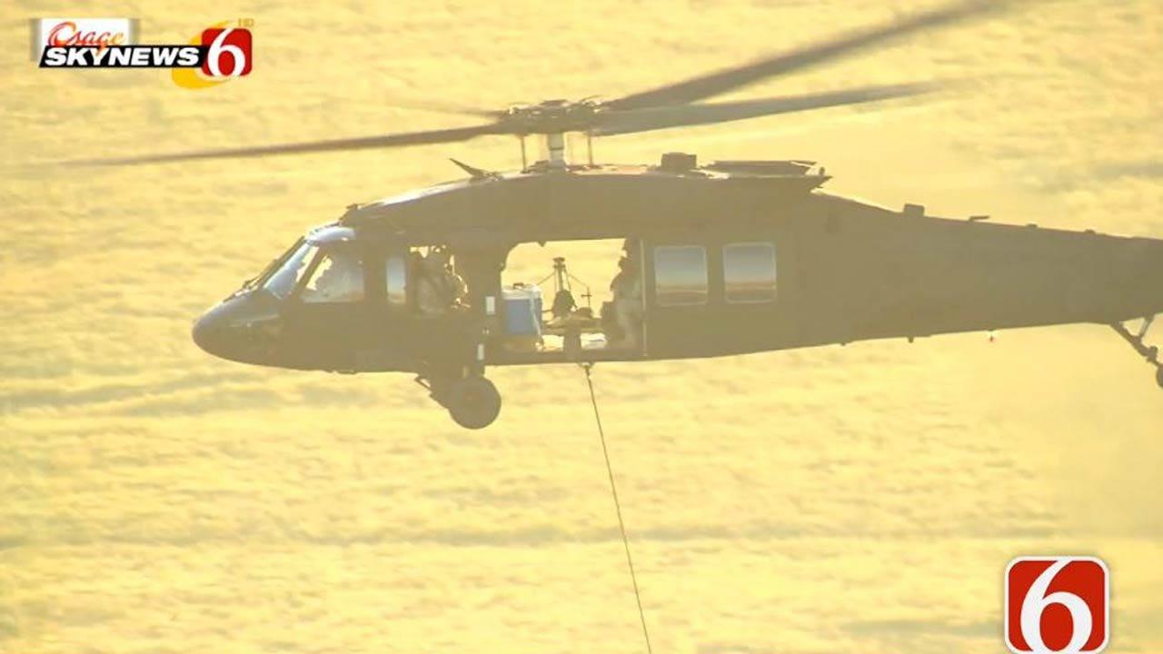 Osage SkyNews 6 HD: Tulsa Black Hawk Helicopter On Interesting Training Mission