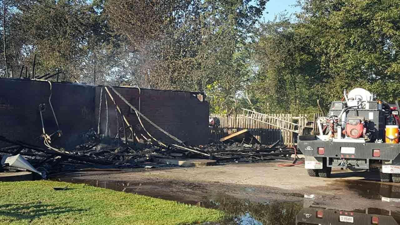 Elderly Man Dies, Wife Rescued In Wagoner Structure Fire