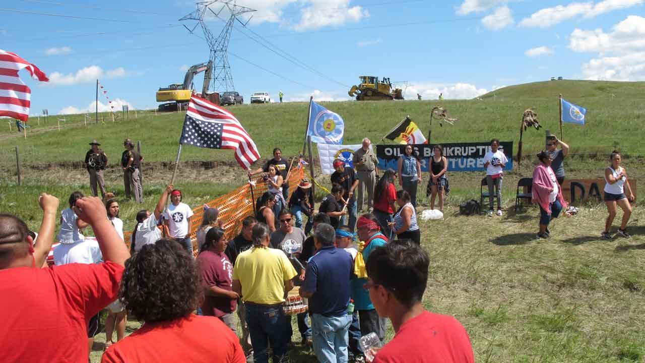 Oil Pipeline Protest Turns Violent In Southern North Dakota