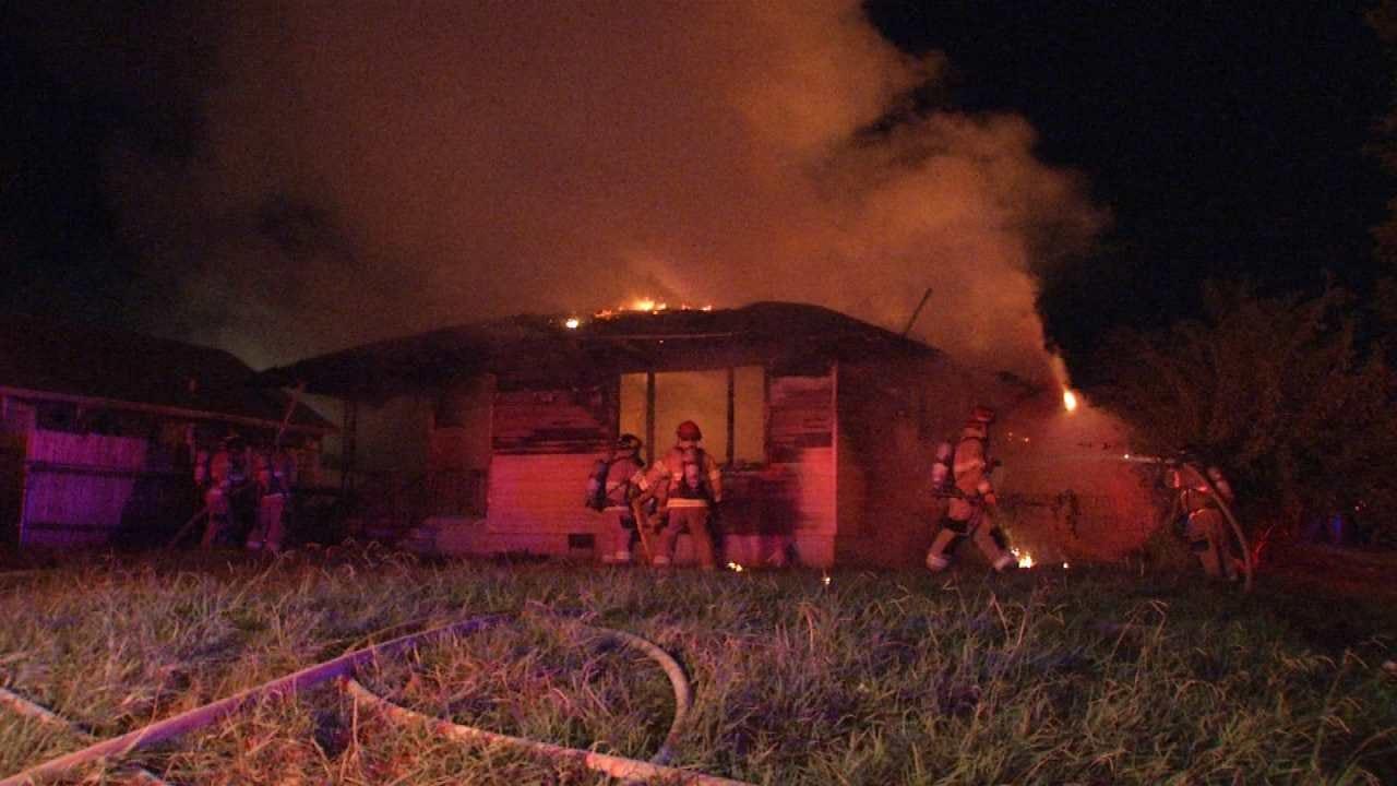 Second Fire Burns Tulsa House