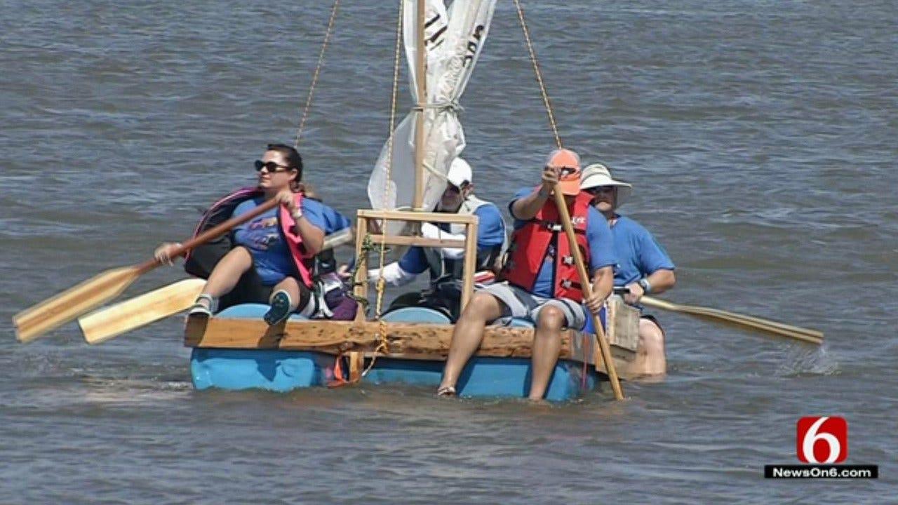Tulsa's Great Raft Race Brings 200 Watercraft To Arkansas River
