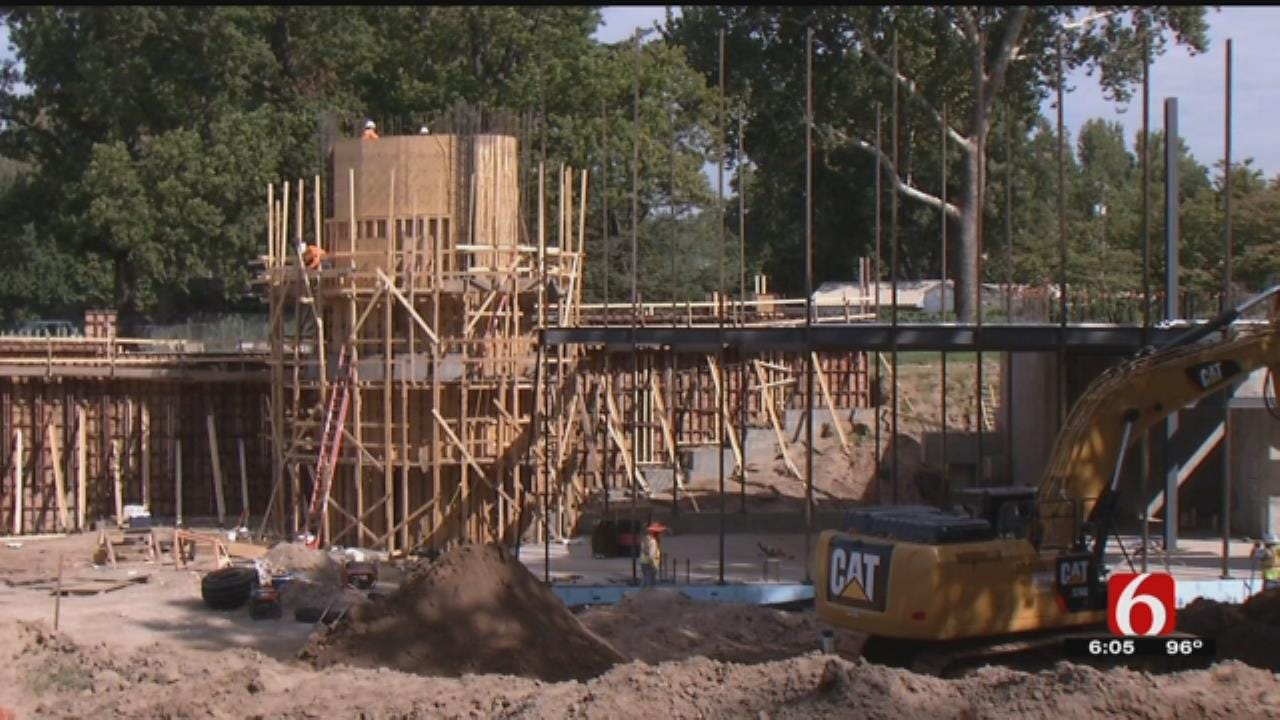 Tulsa's Gathering Place Playgrounds Construction Underway