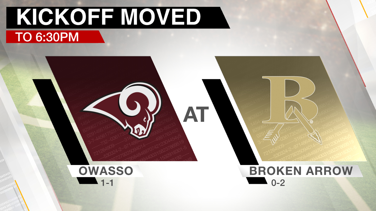 Owasso-Broken Arrow Football Game Moved Up Due To Weather