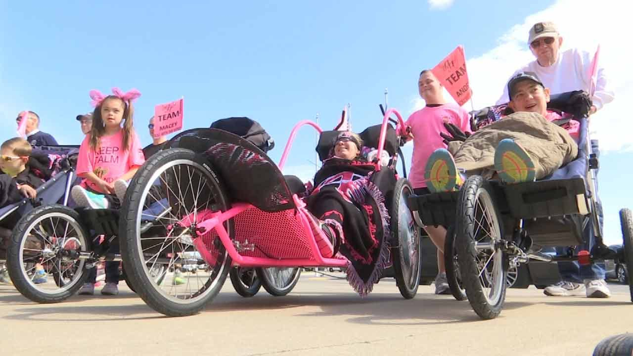 Oklahoma Volunteers Share Gift Of Running With Disabled Friends