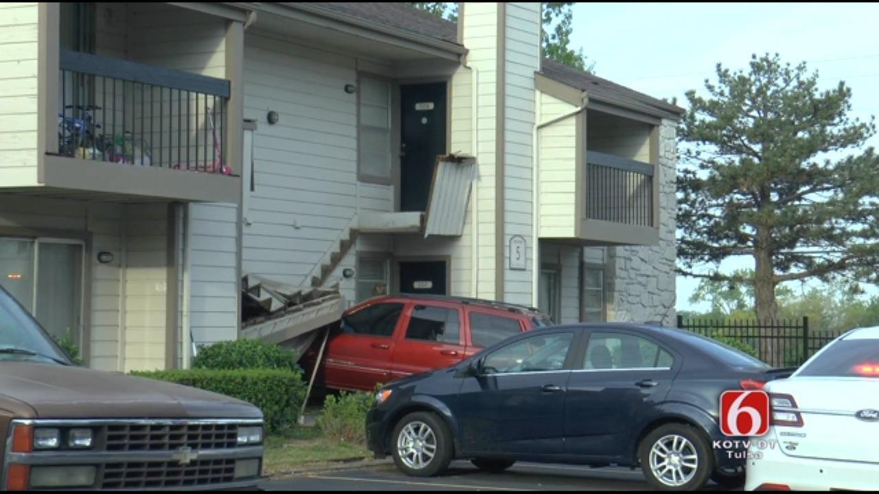 Driver Crashes Into Own Tulsa Apartment, Police Say