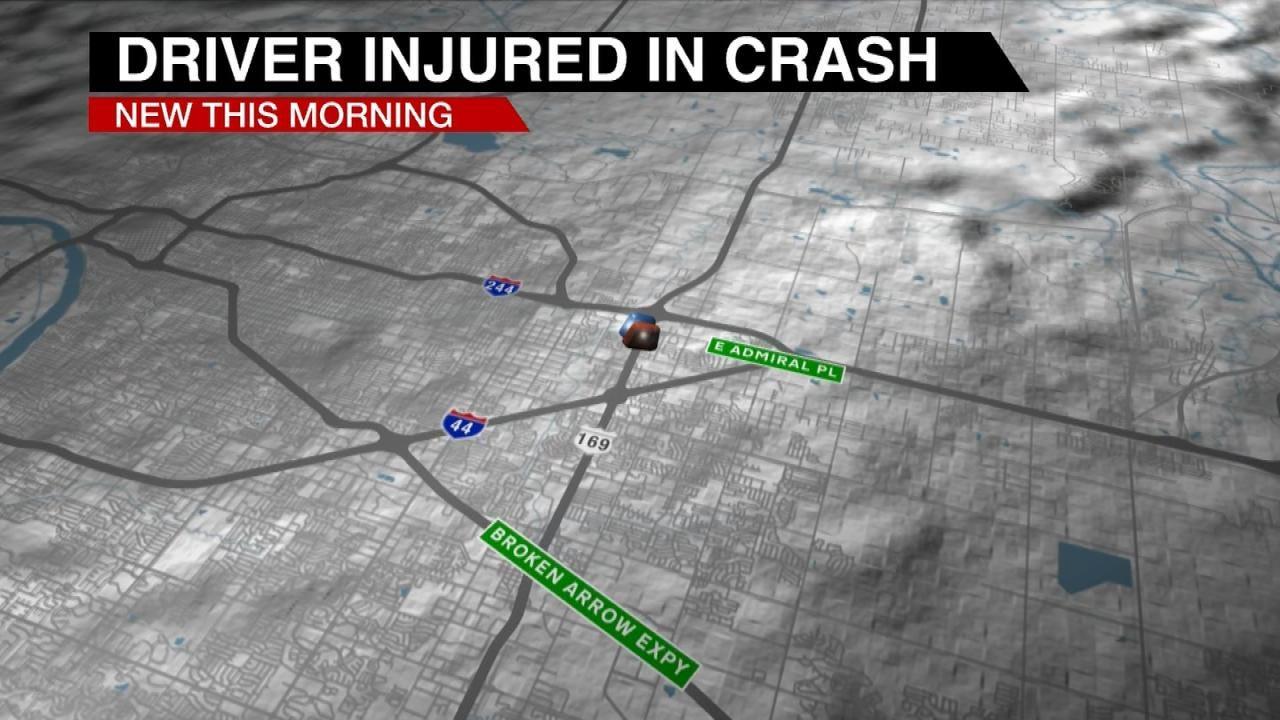 High Speed Crash Sends Tulsa Motorcycle Rider To The Hospital